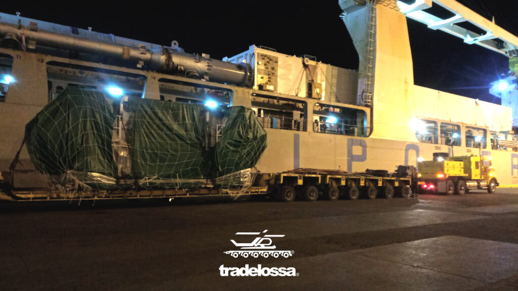 hauling of a 230 ton press for Baja California